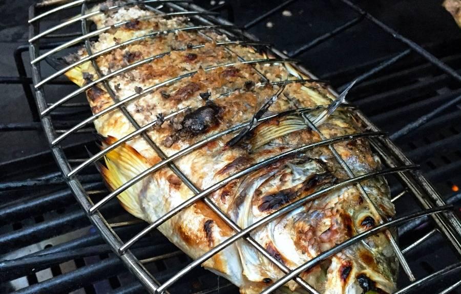 рыба на мангале