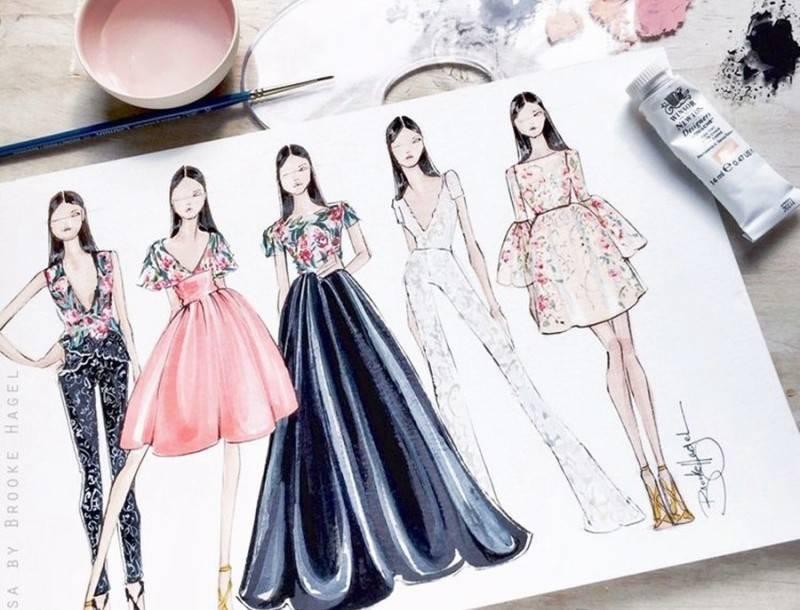 Как нарисовать работу модели магазин подиум рига