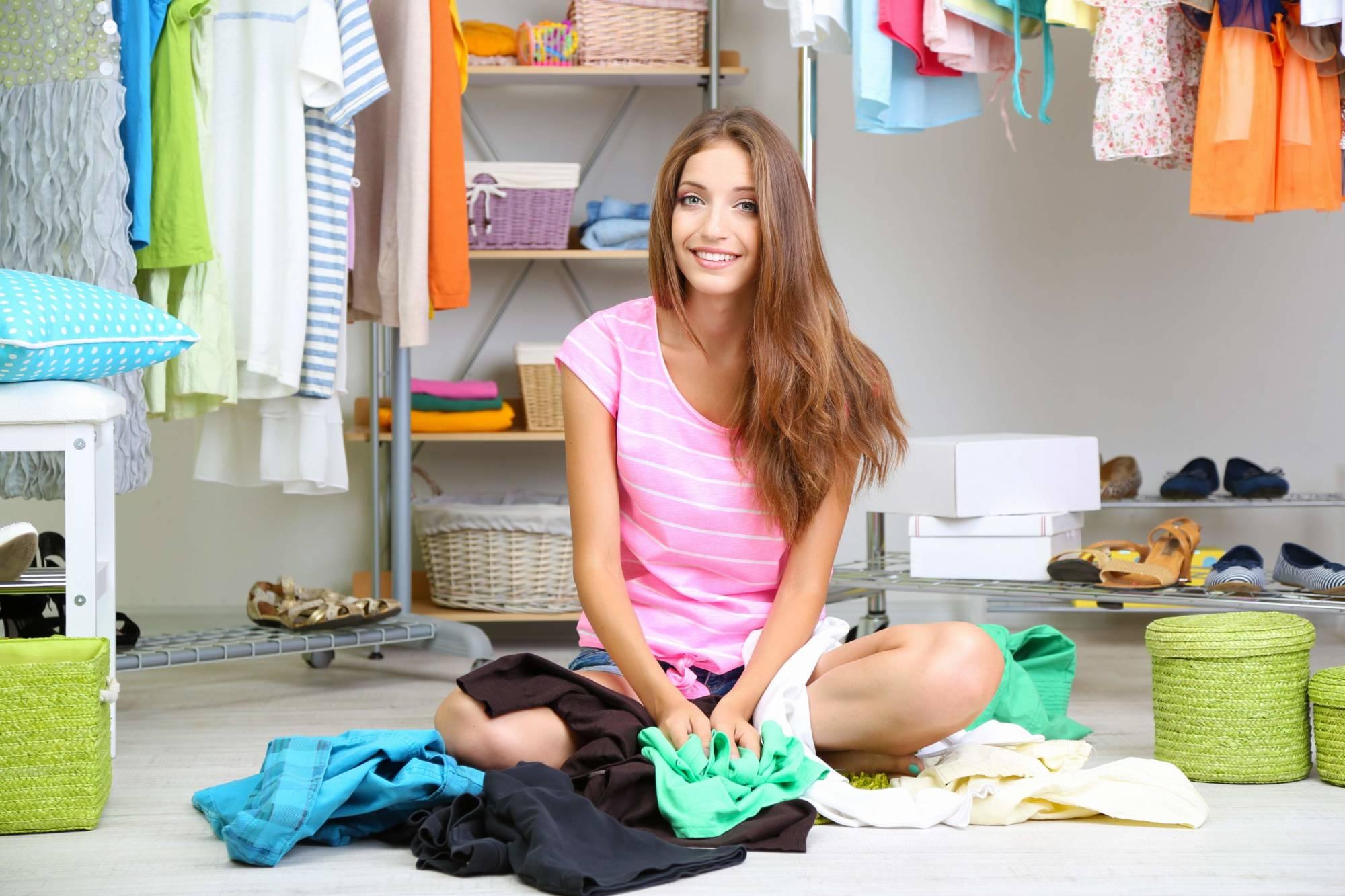 Как убрать одежду фото