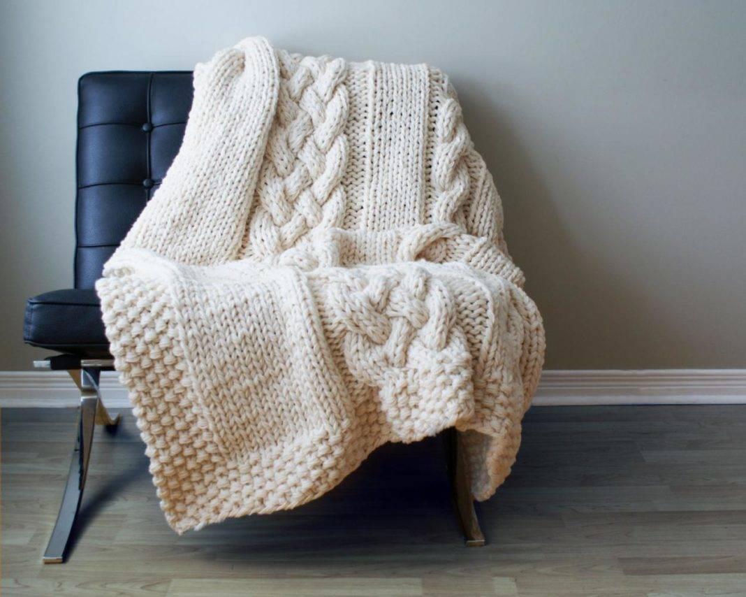 Вязаные одеяла в картинках