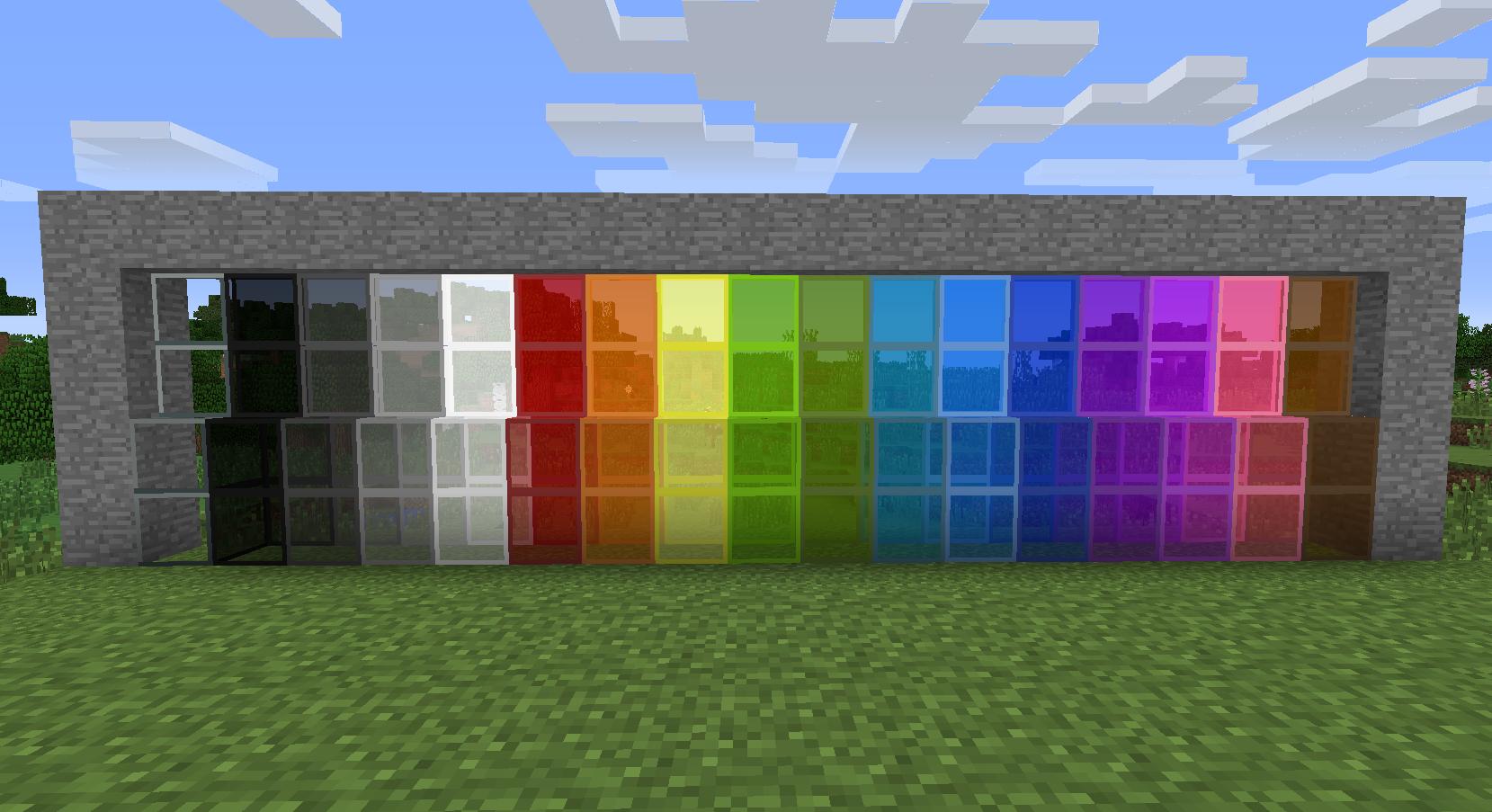 цветное стекло в Minecraft