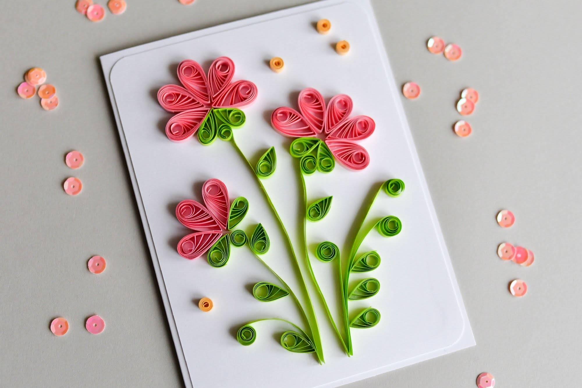 Как делать цветы на открытку своими руками из бумаги, саша тебе скучаю