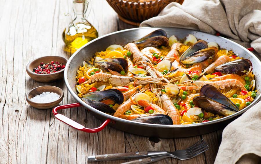 паэлья с морепродуктами картинки особому покрытию