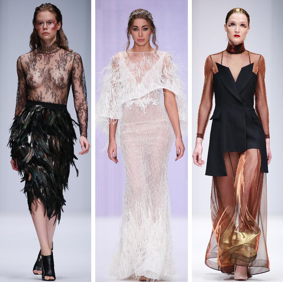 прозрачная одежда на неделе моды в России