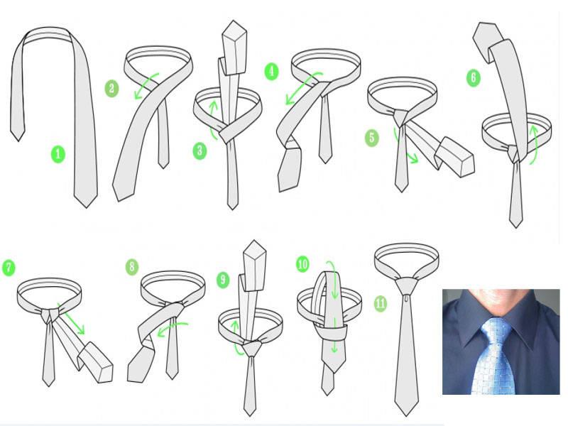 какую статью как завязать галстук пошагово фото простой узел актриса